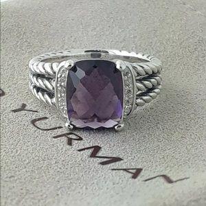David Yurman Amethyst Ring! 7